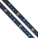Ruban Petites Fleurs Bleu