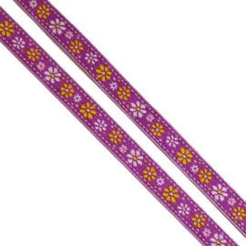 Ruban Petites Fleurs Violet