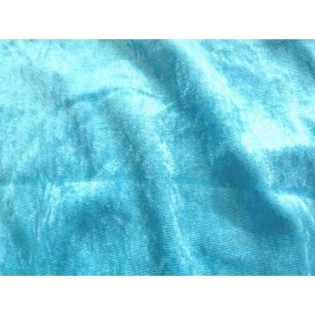 Panne de velours FIturquoise
