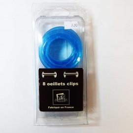 Oeillet clip transparent