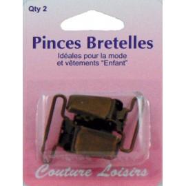Pinces bretelles x2