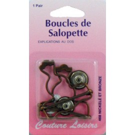Boucles salopette x2