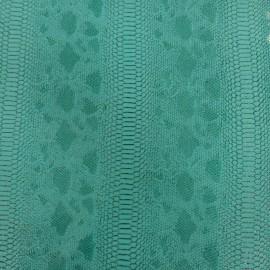 Simili cuir reptile turquoise