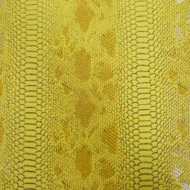 Simili cuir reptile jaune