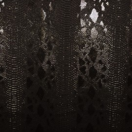 Simili cuir reptile noir