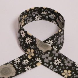 Biais Fleuri noir