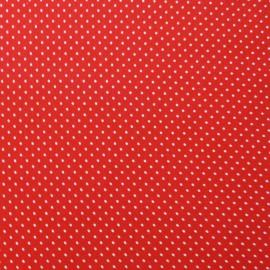 Tissu petit pois Rouge