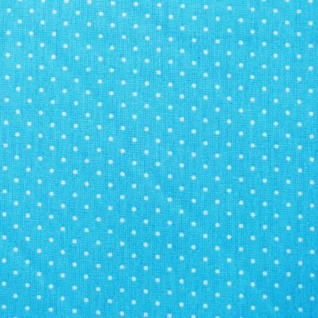 Tissu petit pois Turquoise