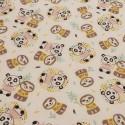 Tissu Panda Woni Rose