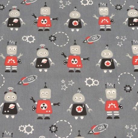 Tissu Coton Robot