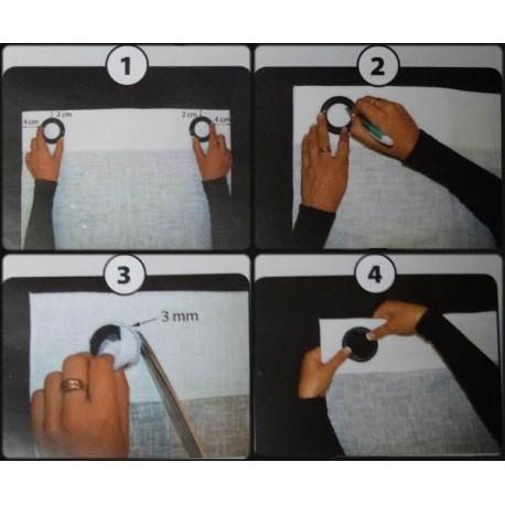 Comment poser des oeillets les tissus d 39 isa mibel sarl - Comment poser des oeillets sur un rideau ...