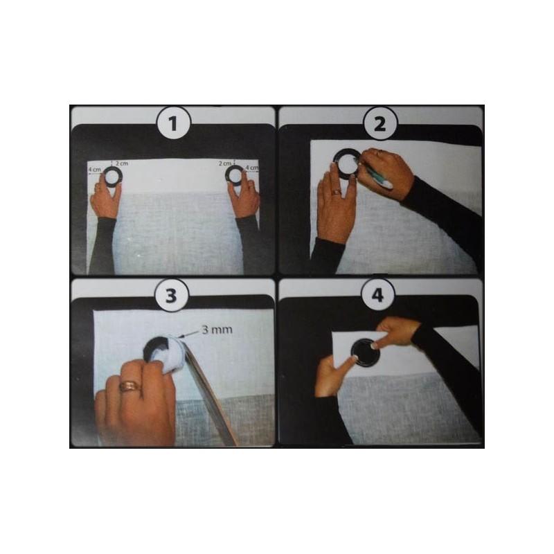 Comment poser des oeillets les tissus d 39 isa mibel sarl - Comment faire des rideaux a oeillets ...