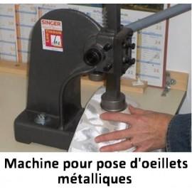 Pose d'oeillets métalliques