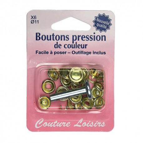 Bouton pression couleur