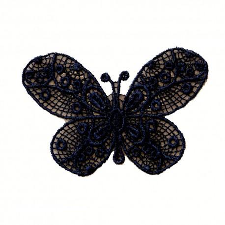 Papillon bleu marine