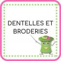 • Dentelles et broderies