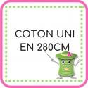 • Coton uni en 280cm