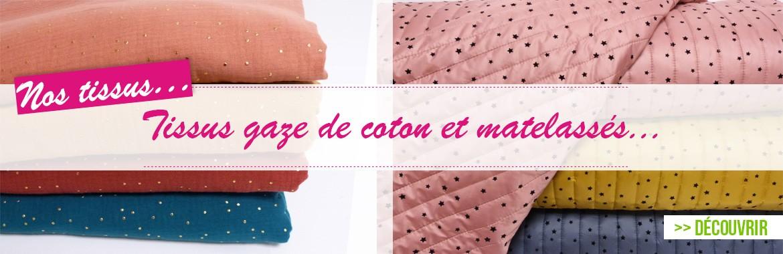 tissus coton et polyester