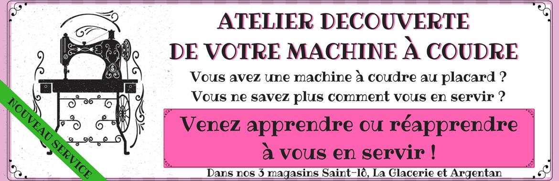 atelier découverte machine à coudre
